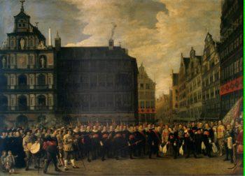 Portrait of the Members of the Guild Oude Voetboog in Antwerp | Teniers David II | oil painting