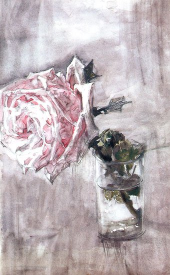 The Rose | Mikhail Vrubel | oil painting