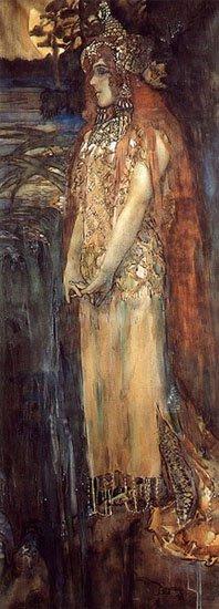 The Sea Princess | Mikhail Vrubel | oil painting