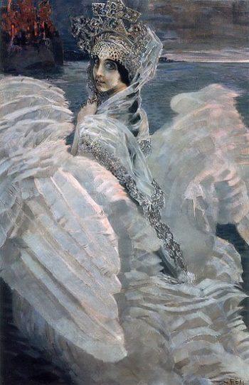 The Swan Princess | Mikhail Vrubel | oil painting
