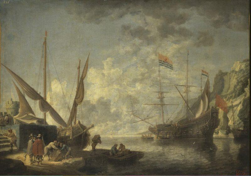 Sea Harbour   Teniers David II   oil painting