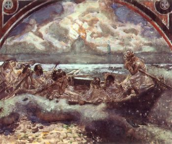 Walking on Water | Mikhail Vrubel | oil painting
