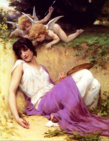 Beautiful Girl Angel | Guillaume Seignac | oil painting