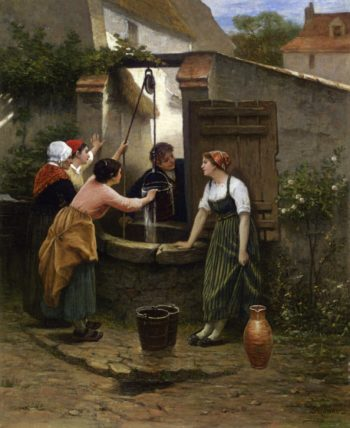 By the Well | Guillaume Seignac | oil painting