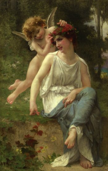 Cupid Adoring a Young Maiden | Guillaume Seignac | oil painting