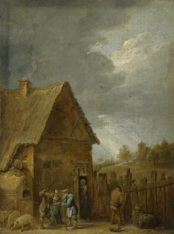 Yard of Peasant House | Teniers David II | oil painting