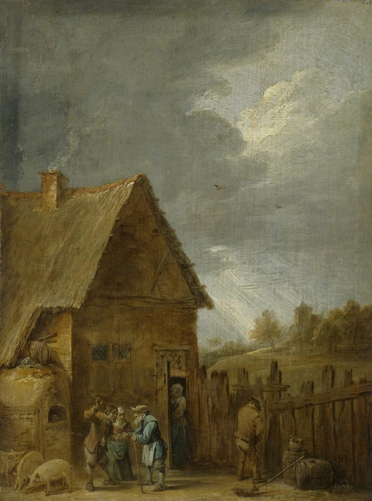 Yard of Peasant House | Teniers David II | oil painting