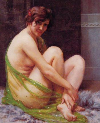La Paresseuse | Guillaume Seignac | oil painting