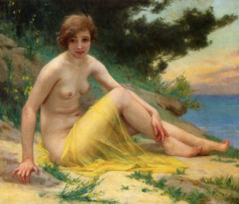 Nude at the Beach | Guillaume Seignac | oil painting