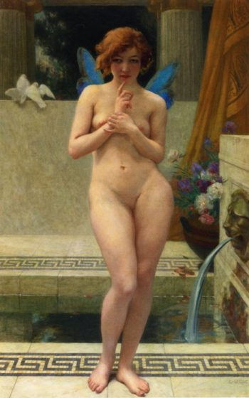 Psyche at a Fountain | Guillaume Seignac | oil painting
