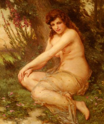 The Forest Nymph | Guillaume Seignac | oil painting