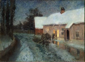 Night | Thaulow Frits (Johann Fredrik) | oil painting