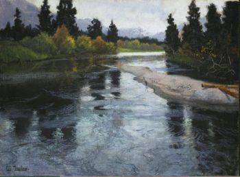River | Thaulow Frits (Johann Fredrik) | oil painting