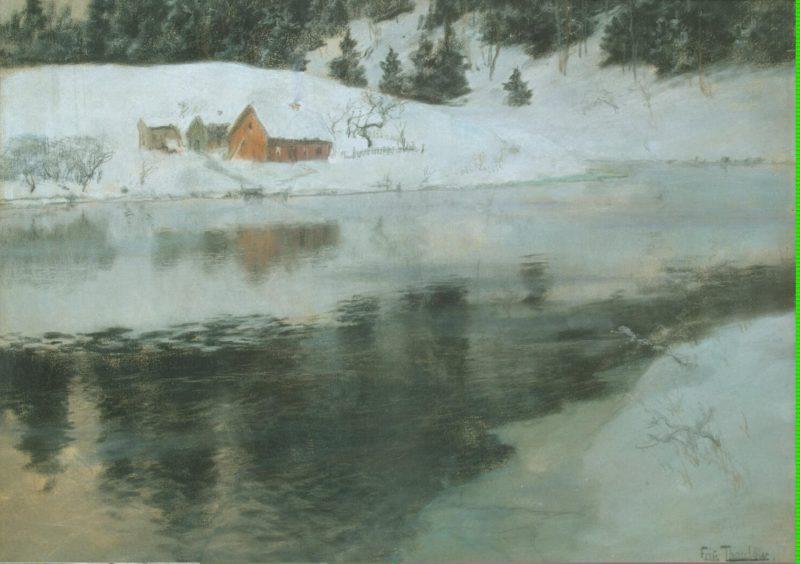 Winter Landscape   Thaulow Frits (Johann Fredrik)   oil painting