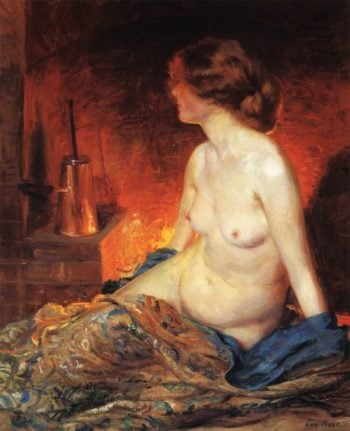 By the Fireside | Guy Orlando Rose | oil painting