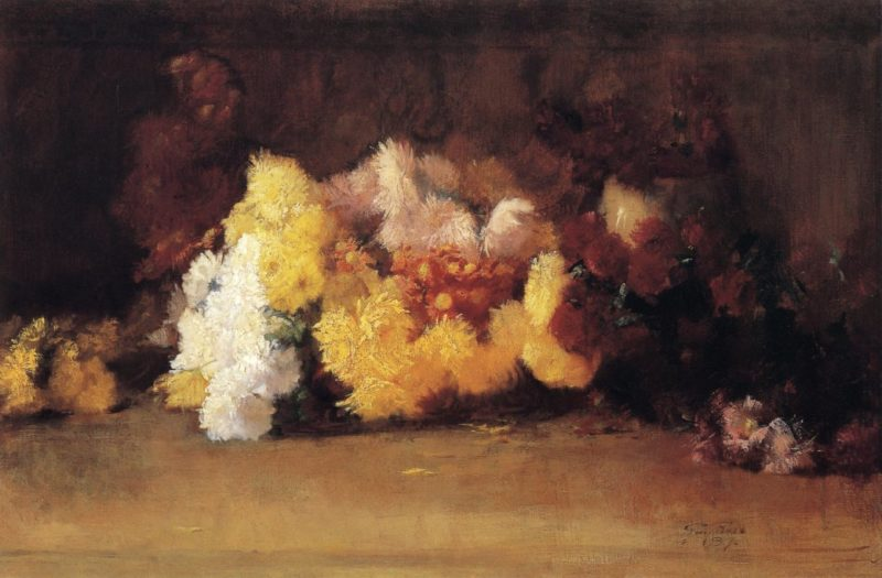 Chrysanthemums   Guy Orlando Rose   oil painting