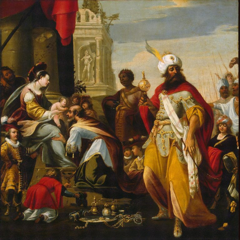 Adoration of the Magi | Lallemand Georges | oil painting