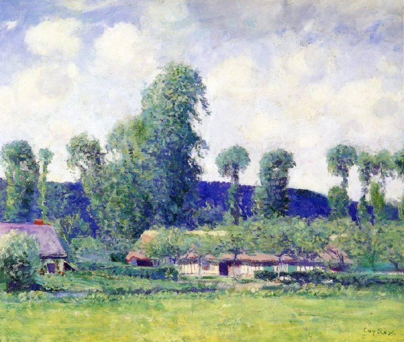 French Farm   Guy Orlando Rose   oil painting