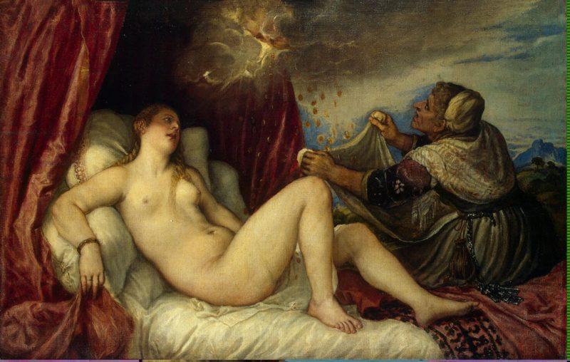 Danae   Titian (Tiziano Vecellio)   oil painting