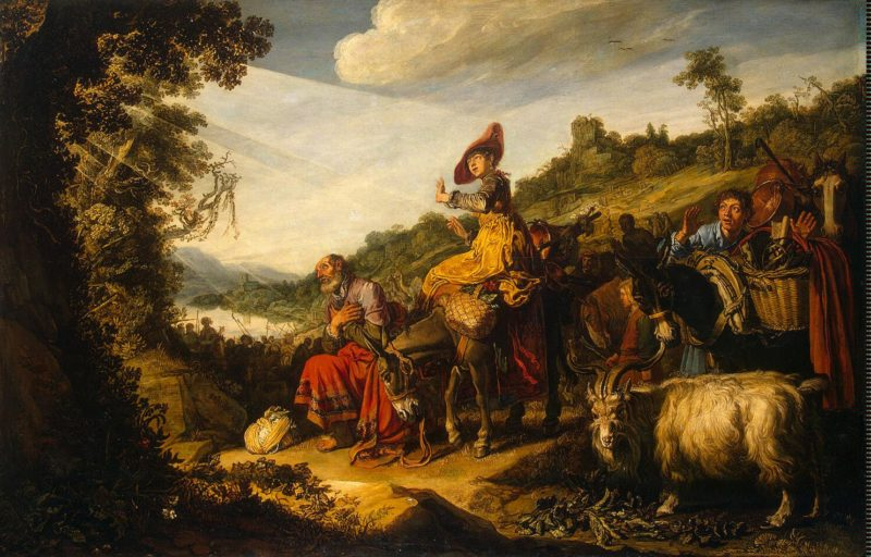 Abraham on the Road to Canaan | Lastman Pieter | oil painting
