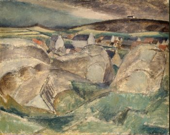 Village among the Rocks | Le Fauconnier Henri | oil painting