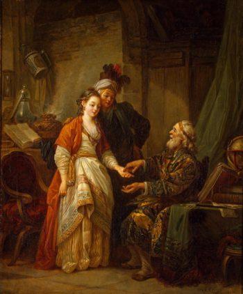 Visit to a Palmist   Le Prince Jean-Baptiste   oil painting