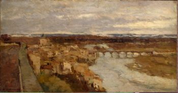 View of Pont-du-Chateau | Lebourg Albert Marie | oil painting