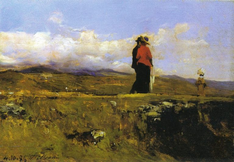 Giubotto rosso 1886   Lorenzo Delleani   oil painting