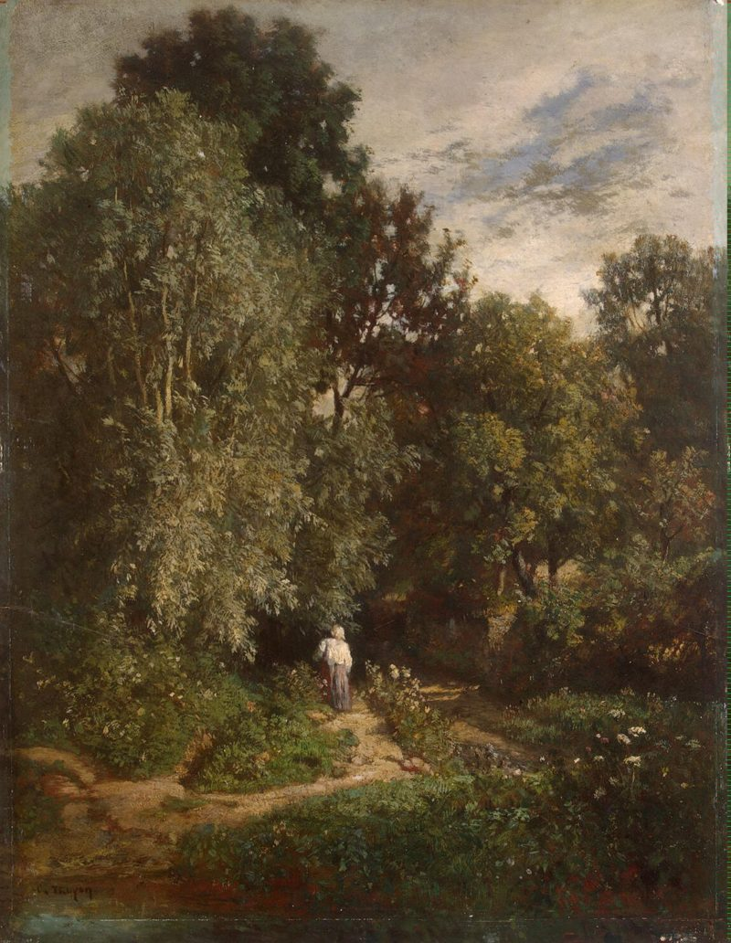 Road in a Wood   Troyon Constant   oil painting
