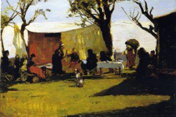 Panni al sole 1886 | Lorenzo Delleani | oil painting