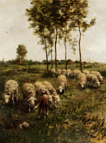 A Girl Watching The Flock | Anton Mauve | oil painting