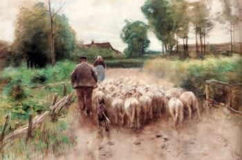 Bringing Home The Flock | Anton Mauve | oil painting