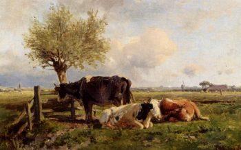Resting Cows | Anton Mauve | oil painting