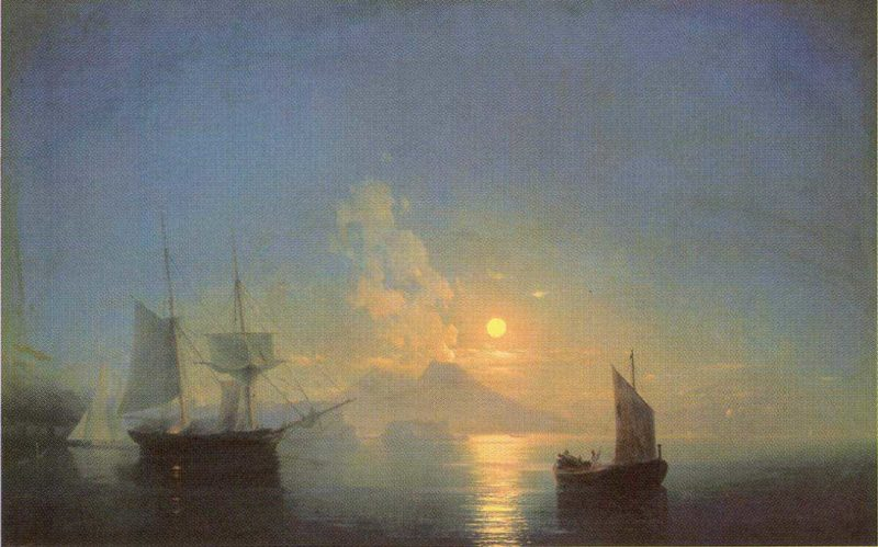 The Bay of Naples by Moonlight | Ivan Aivazovsky | oil painting