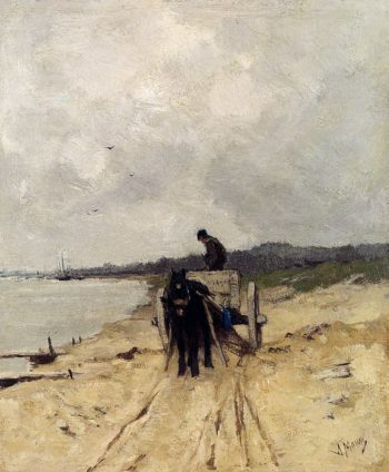 The Sand Cart | Anton Mauve | oil painting