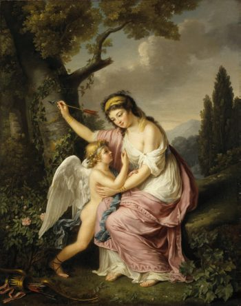 Woman and Cupid | Lemoine Marie-Victoire | oil painting
