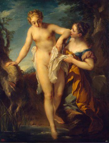 Woman Bathing   Lemoyne Francios   oil painting