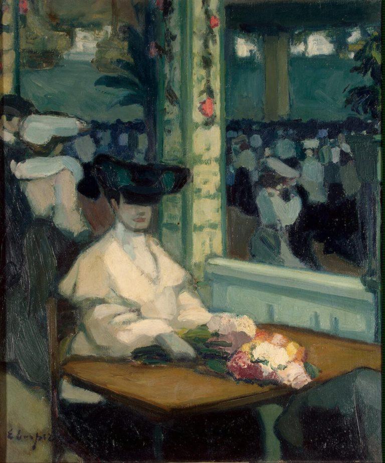 Waiting. Moulin de la Galette | Lempereur Edmond | oil painting