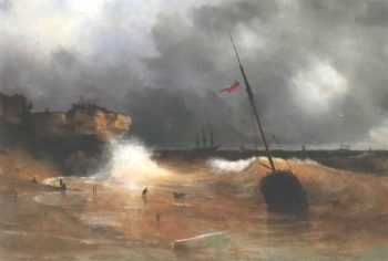 The gale on sea is over | Ivan Aivazovsky | oil painting