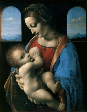 Madonna and the Child (The Litta Madonna) | Leonardo da Vinci | oil painting