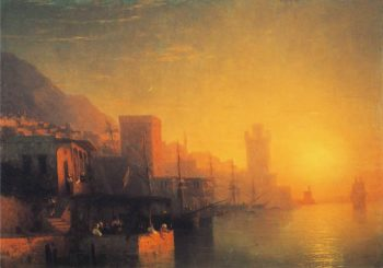 The Island of Rhodes | Ivan Aivazovsky | oil painting
