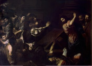 Expulsion of the Money-Changers from the Temple | Valentin de Boulogne | oil painting