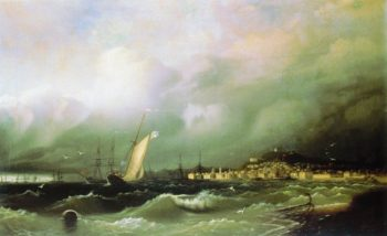 The Old Feodosia | Ivan Aivazovsky | oil painting