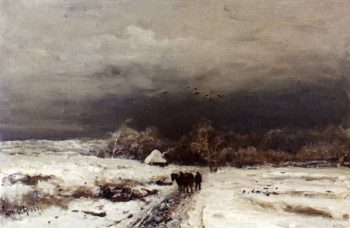 A Late Afternoon In Winter | Louis Apol | oil painting