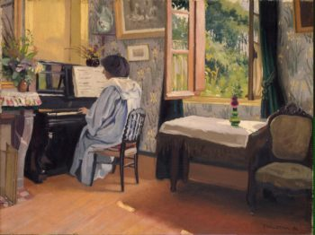 Woman at a Piano | Vallotton Felix | oil painting