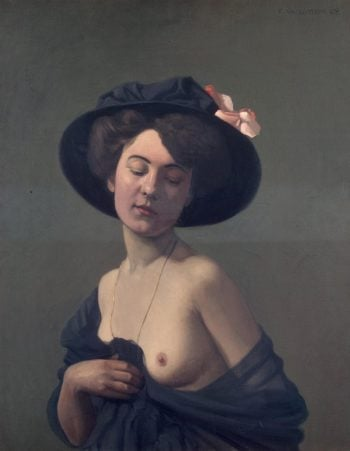 Woman in a Black Hat   Vallotton Felix   oil painting