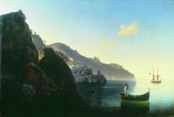 The seashore of Amalfi | Ivan Aivazovsky | oil painting