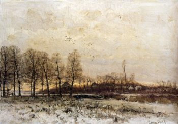 Zonsondergang | Louis Apol | oil painting