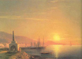 The Sunrise in Feodosiya   Ivan Aivazovsky   oil painting