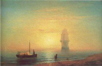 The sunset on sea | Ivan Aivazovsky | oil painting